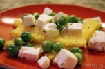 Herbed Polenta with Feta and Fava Beans