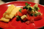 Polenta Strips with Tomatoes & Avocado