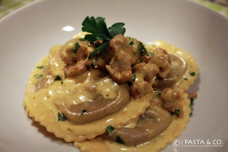 MushroomMezzalune_Salsiccia&CreamySaffron